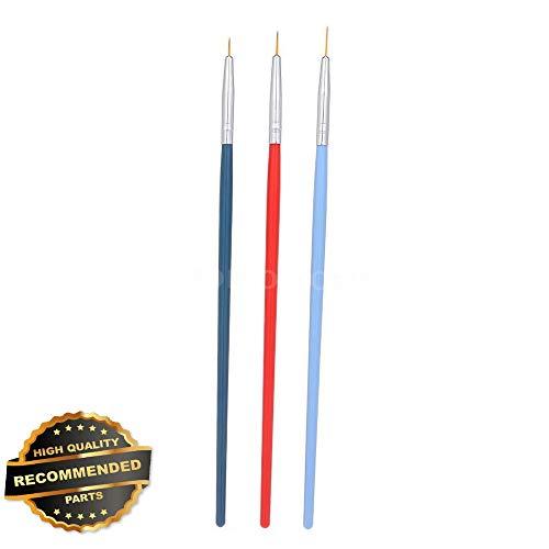 Gatton Premium New 3Pcs Nail Art Liner Brush UV Gel Painting Nail Brush Pen Set For Manicure B0Z6   Style MNCRSET-301122465