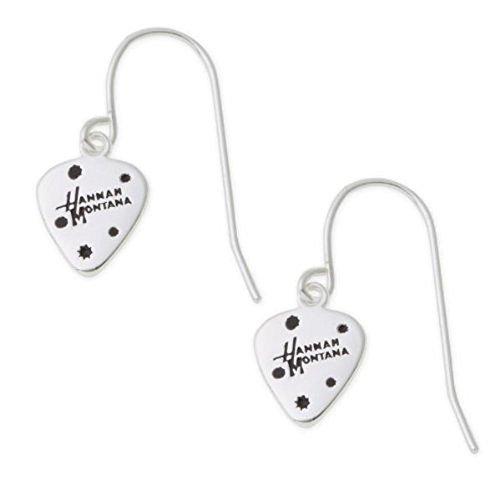 Disney Hannah Montana Sterling Silver Guitar Pick Earrings (Jewelry Montana Hannah)