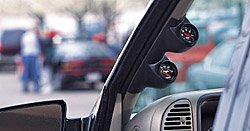 (Auto Meter Pillar Gauge Pods Gauge Pod, Dual 2 1/ 16 in., Black ABS, Ford, Mustang, Convertible, Each)