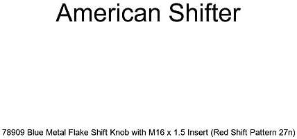 Blue Shift Pattern Fcking Fast Style 20n American Shifter 148688 Black Retro Shift Knob with M16 x 1.5 Insert