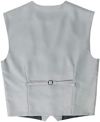 メンズ ベスト スリム ジレベスト 5ツボタン 尾錠付き ビジネス 業務用