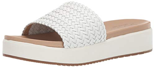 SOUL Naturalizer Women's HAPPY Sandal, WHITE, 11 M US