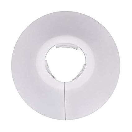 12 piezas de plástico radiador Cubiertas de tubo collares para tubo de 15 mm de diámetro - blanco: Amazon.es: Bricolaje y herramientas