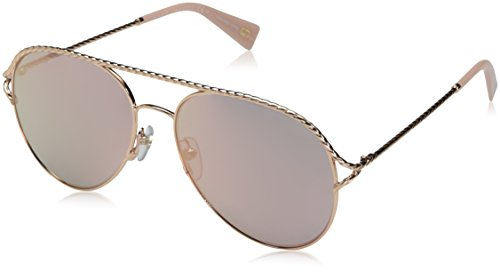 Marc Jacobs Women's Marc168s Aviator Sunglasses, Gold Pink/Gray Rose Gold, 58 - By Marc Jacobs Aviator Marc