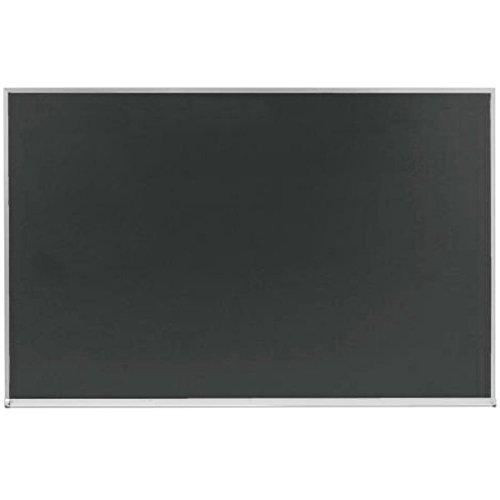 Aarco DS4860S 48'' x 60'' Slate Gray Satin Anodized Aluminum Frame Porcelain Chalkboard