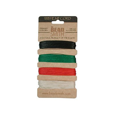 Hemp-Twine-Bead-Cord-55mm-Primary-Colors-App-42-Feet-42546-by-Beadsmith