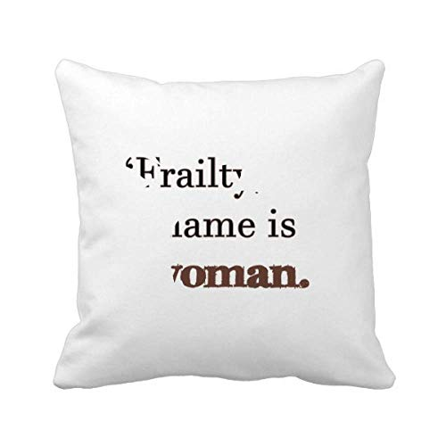 Bella87 Frailty Names Woman Shakespeare Pineapple Throw Pillow Square Cover