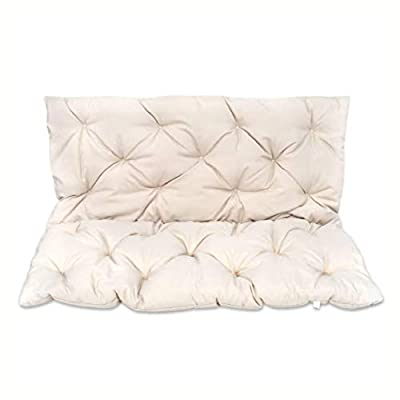 HomyDelight Chair & Sofa Cushion, Cream Cushion for Swing Chair 47.2""