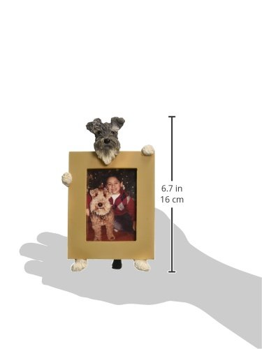 Schnauzer-Uncropped-Picture-Frame-Holds-Your-Favorite-25-by-35-Inch-Photo-Hand-Painted-Realistic-Looking-French-Bulldog-Stands-6-Inches-Tall-Holding-Beautifully-Crafted-Frame-Unique-and-Special-Schnau