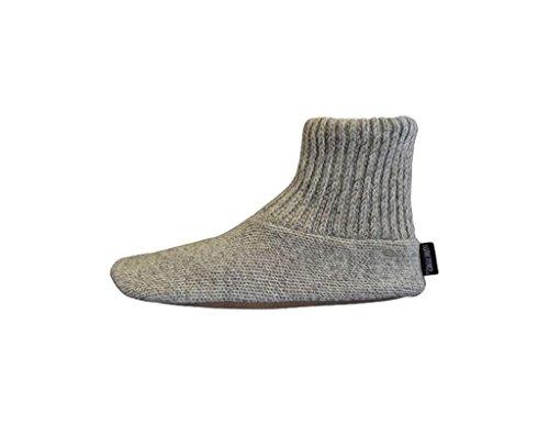 s Ragg Wool Slipper Sock Natural M ()