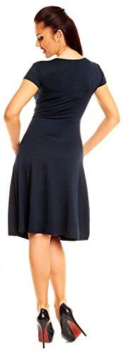 108z maglina manica abito donna corta Marina vestito estivo di Zeta Ville cygFSzyO