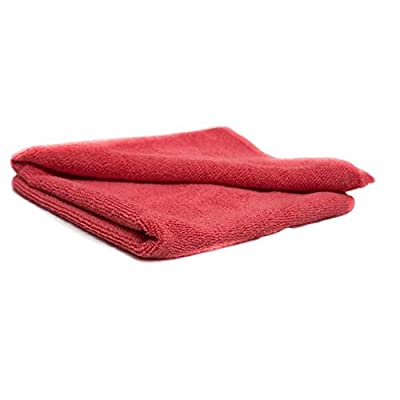 Xtreme Auto Supplies Commercial Grade All-Purpose Microfiber Towels - Red (12 Pack) (14.5 in. x 24 in.): Automotive