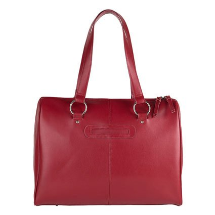 FranklinCovey Basics Leather Laptop Tote - Red