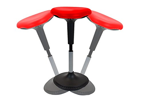 Uncaged Ergonomics NEW Wobble Stool Adjustable Height Active Sitting Balance Perching Chair for Office Standing Desk Best Tall Swivel Ergonomic Stability Sit Stand Up Perch Stool