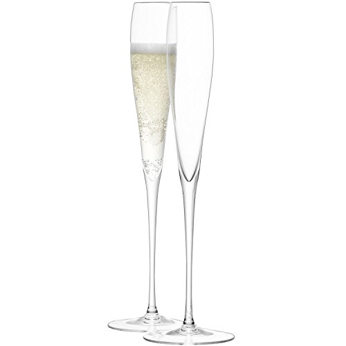 LSA International Wine Grand Champagne Flute (2 Pack), 5.6 fl. oz., Clear ()