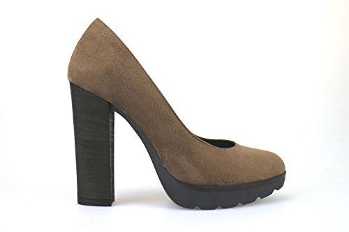 Chaussures Femme CARLA SANCHEZ Escarpins marron daim AJ681