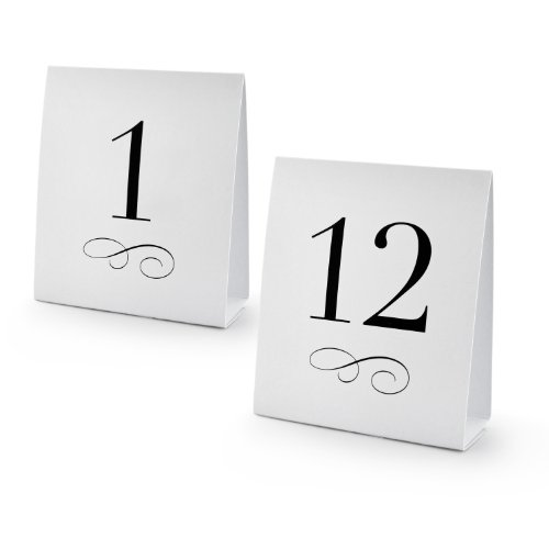 Table Number Cards (New Star Foodservice 27952 1-12 Table Number Tent Style Card, 4.25-inch by 5-inch,)