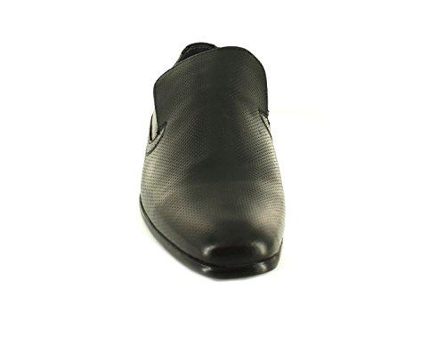 Red Tape Zapatos elegantes Derry de piel negros sin cordones para hombre - Negro - GB Tallas 7-12