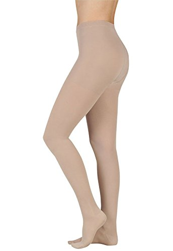 Juzo Soft 2001 Compression Pantyhose 20-30mmHg (Chocolate-Short-4 (IV)-Open Toe)