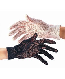 Funeral Widow Costume (Lace Gloves - Black)