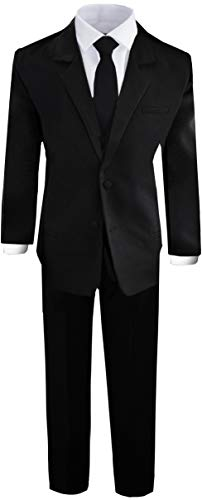 Boys Black Tuxedo Suit with Tie Young