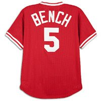 Mitchell & Ness Johnny Bench Cincinnati Reds Red Authentic Mesh Batting Practice Jersey (44/L)