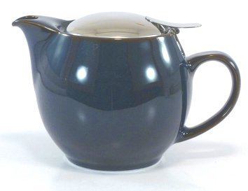 Bee House Ceramic Round Teapot - Jeans Blue by Bee House