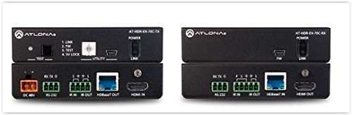 - Atlona HDMI Over HDBaseT Transmitter/Receiver for Up to 230' with POE ATUHDEX70KIT