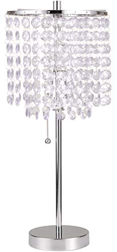19 H Crystal Inspired Table Lamp with Pull Switch - 8315C