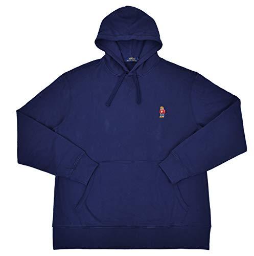Polo Ralph Lauren Men's Big & Tall Teddy Polo Bear Pullover Fleece Hoodie Sweater Navy Blue (XX-Large Tall (2XLT) (Ralph Fleece Lauren Mens)