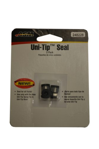 (Graco 248228 Uni-Tip Base and Spray Tip Airless Paint Sprayer Replacement Seal, 5-Pack)