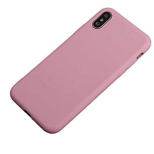 iBarbe iPhone X Case,iPhone 10 Case,Lightweight Soft Silicone Case,Thin TPU Rubber Skin Cover Minimalist Slim Protective Shock-Absorption Bumper Phone Case [Slim Fit]for Apple 5.8