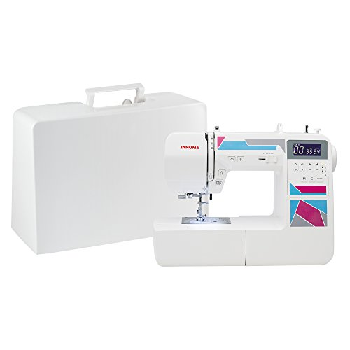 (Janome MOD-200 Fully-Featured Computerized Sewing Machine with 200 Stitches, 12 Buttonholes, Alphabet Stitches, Stitch Memory, Drop Feed, Hard Cover and Bonus Presser Feet)