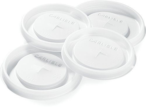 Carlisle 1112L30 Polystyrene Tumbler Lid, 3.05 x 0.30'', See Thru, For Bistro 12-oz. Tumbler (Case of 1000) by Carlisle
