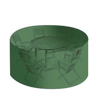 OSE Housse de protection PVC table ronde de jardin - Vert - 184 cm ...