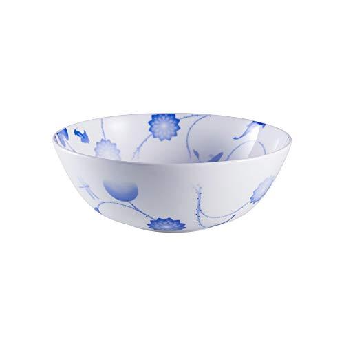 ZENS Bone China Pasta Soup Bowl Set, 51oz Large Noodle Salad Bowls, 8