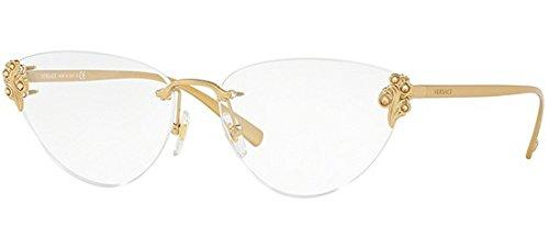 6b954230aeb0 Versace VE1254B Eyeglass Frames 1428-56 - Tribute Gold VE1254B-1428-56