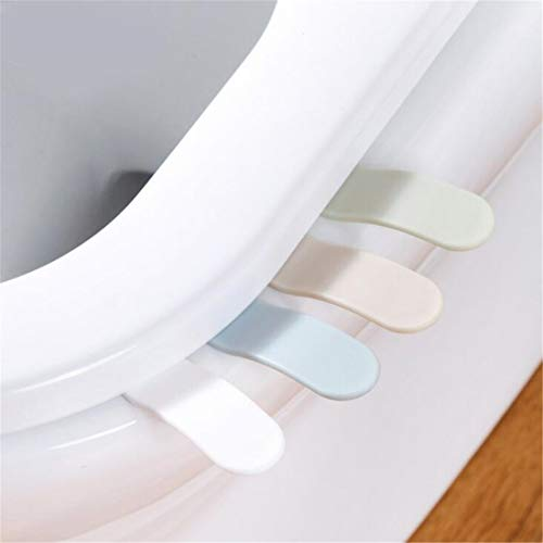 (Tmrow 4PCS Toilet Seat Lifter Toilet Pad Cover Lower Lid Handle Hygienice Clean Lift Raise Lower Lid the Clean Way Avoid Touching Self adhesive Hygiene)