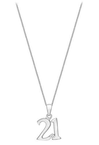 Carissima Gold - Collier avec pendentif - Or blanc 9 cts - Diamant 0.004 cts - 46 cm - 5.44.5134