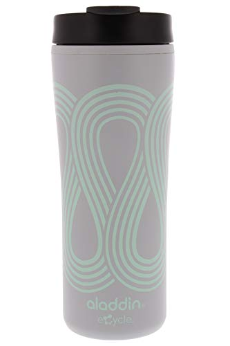 Aladdin eCycle Coffee Travel Mug, 16oz Tumbler with Leakproof Lid - An Ideal Recycled and Recyclable Travel Coffee Mug, Take Your Drink on the Go -Insulated Coffee Mug Fits in Cupholder, Seafoam Green