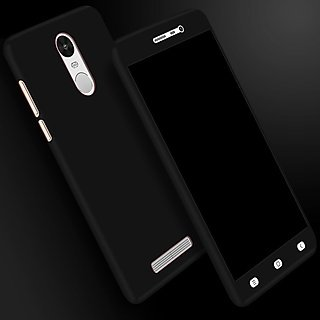 new concept eae8b ff1b5 HRV Full-0046 Front and Back Case Cover with Tempered Glass for Redmi Note  3 (Black)