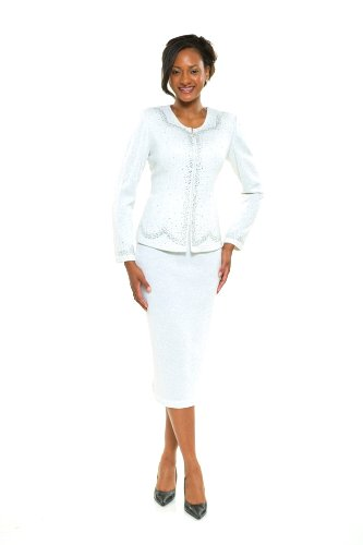 Amazon.com: Divas Couture Women's Business Skirt Suit 1854 16 ...