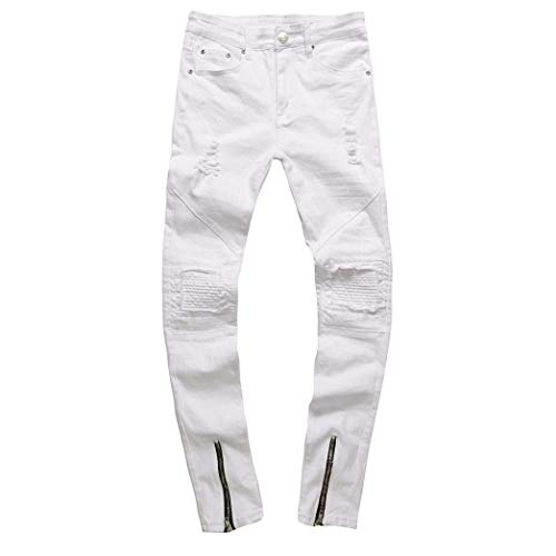 De 34 Hechos Pantalones Rotos Ajustados De Vintage Fashion Los Lannister De Los Pantalones Elásticos Skinny Mezclilla Pantalones para Nn Vaqueros Blanco Hombre Vaqueros Hombres Rasgados Azul 7gwqAU17