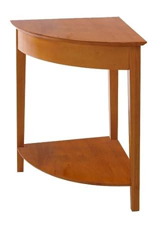 Great Winsome Wood Corner Desk With Shelf, Honey