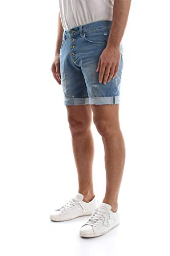 Blue Denim Shorts E Rolly Uomo Dondup Up334 Bermuda Medium wq8S4xRY