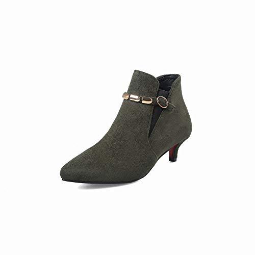 Martin Botas Calzado Mujer 40 Zapatos Verde Otoño de Mujer 34 Calzado de para Estilete Calzado de de XDX Invierno vz7qwF
