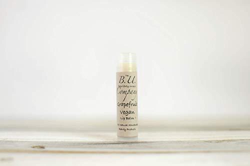 All Natural Vegan Grapefruit Lip Balm - All Natural Handmade - BU Company - Vegan - 4 pack