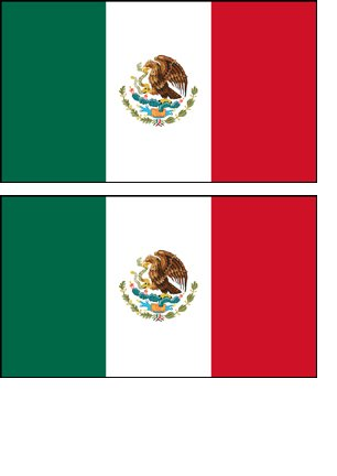2 mexico mexican flag stickers decal bumper window laptop phone auto boat wall