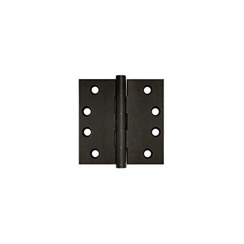 Home Improvement Deltana DSB4N10B Solid Brass 4-Inch x 4-Inch Square Hinge Top Notch Distributors Inc.