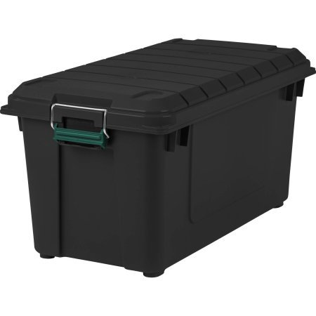Remington 82 Quart WEATHERTIGHT Storage Box, Store-It-All Utility Tote, Black, Pack of 1